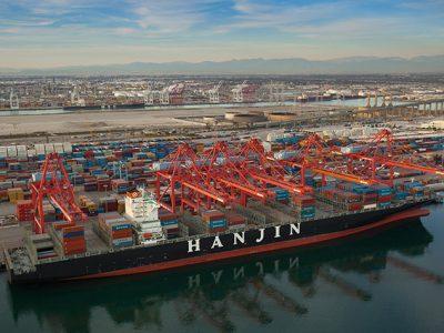 Hanjin Intermodal Yard, Port of Long Beach