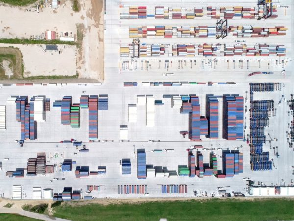 25-acre empty container yard, for Terminal Link Texas, at Bayport Container Terminal, Houston