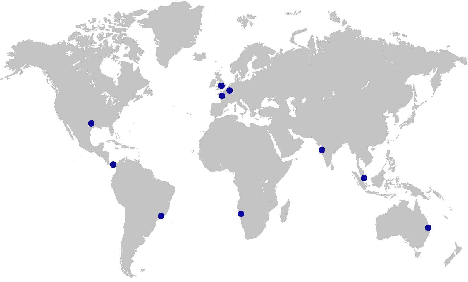 Map showing location of NNP Offices
