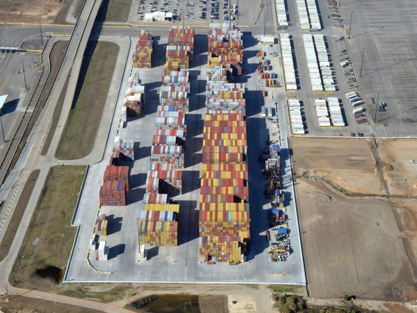Construction work is now complete on a 26-acre empty container yard, for Houston Terminal LLC, at Bayport Container Terminal, Houston